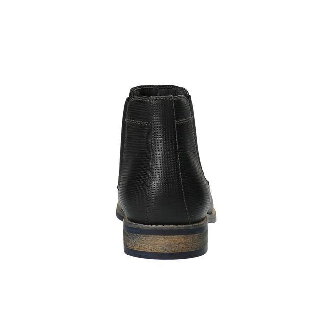 Pánske čierne Chelsea Boots bata, čierna, 891-6601 - 17