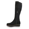 Dámske čižmy na flatforme bata, čierna, 699-6600 - 19
