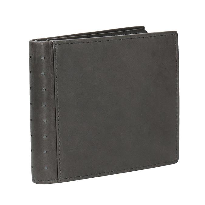 Kožená peňaženka s perforáciou bata, čierna, 944-6175 - 13
