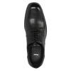 Čierne kožené poltopánky bata, čierna, 824-6743 - 19