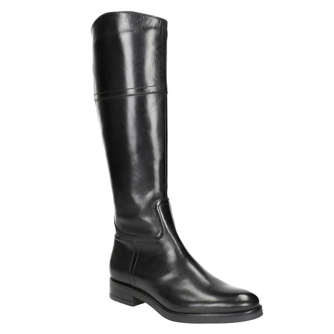Kožené dámske čižmy bata, čierna, 594-6606 - 13