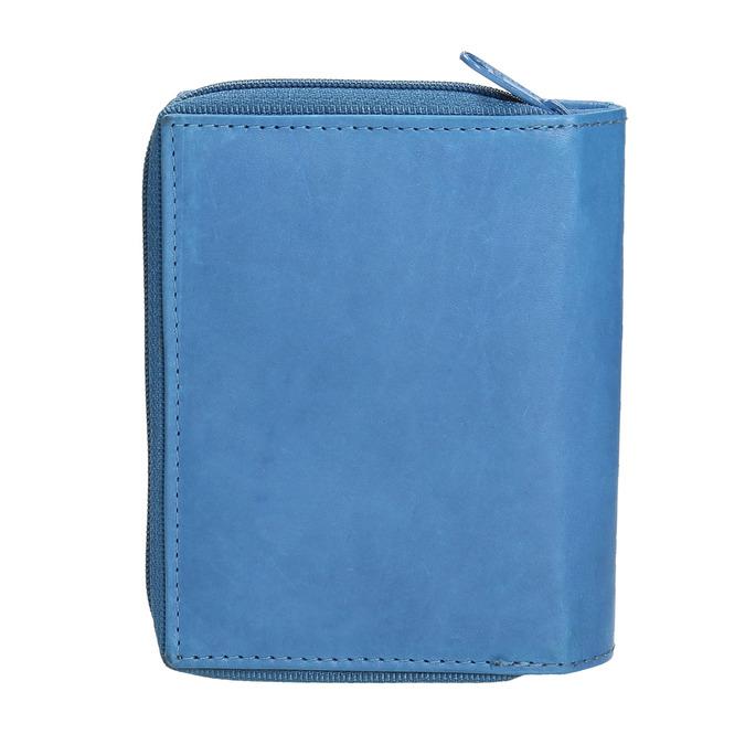 Kožená dámská peňaženka bata, modrá, 944-9157 - 19