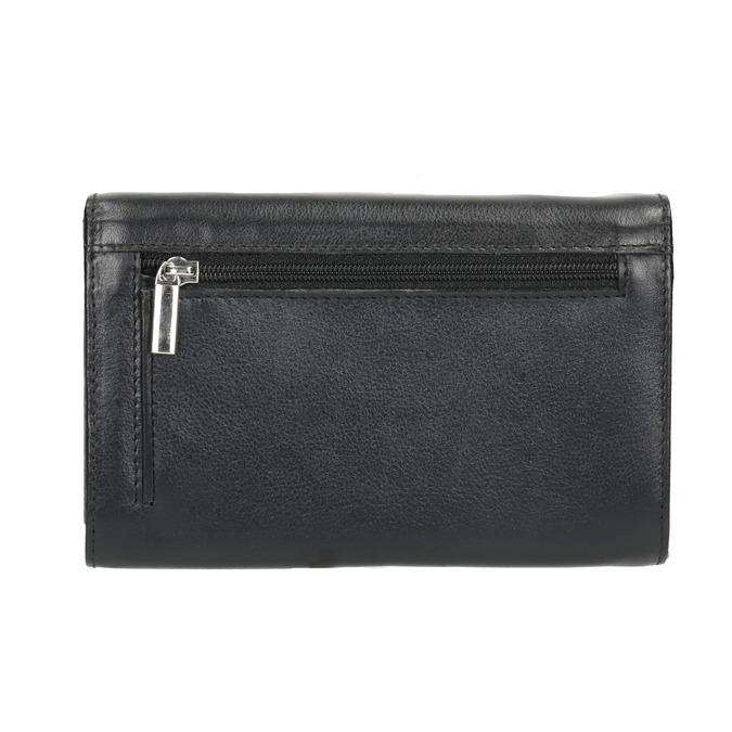 Dámska kožená peňaženka bata, čierna, 944-6168 - 19