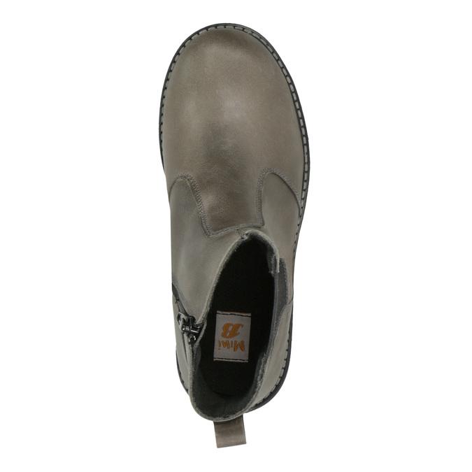 Detská kožená členková obuv mini-b, hnedá, 394-2316 - 19