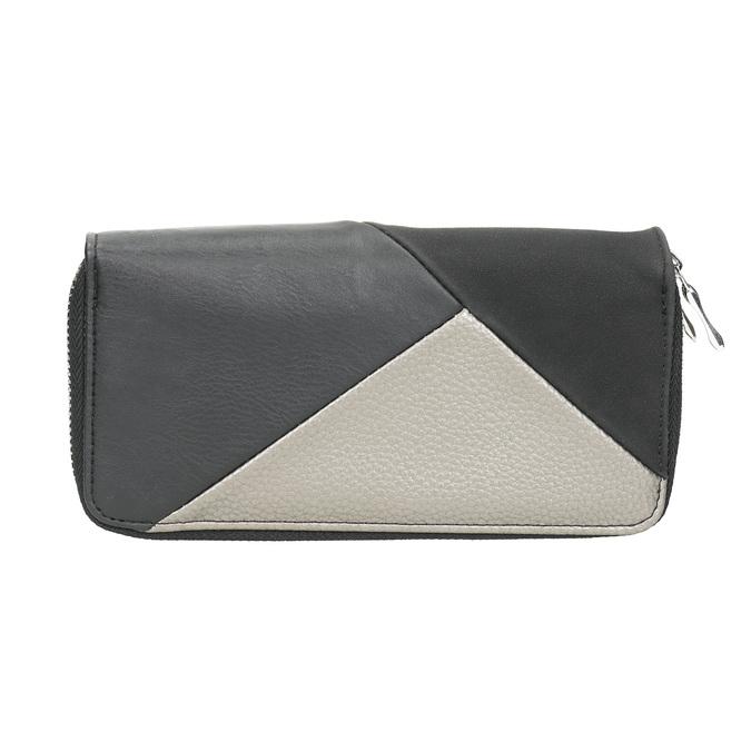 Dámska peňaženka v Patchwork štýle bata, čierna, 941-6152 - 19