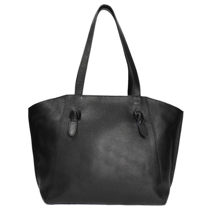 Čierna kožená kabelka bata, čierna, 964-6205 - 26