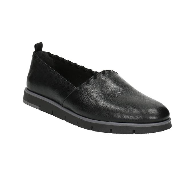 Dámske kožené Slip-on s obšitím flexible, čierna, 514-6257 - 13