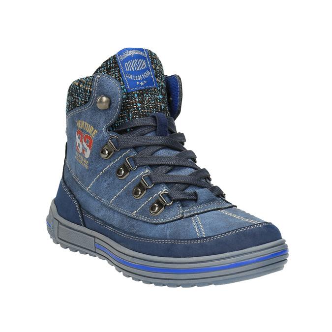 Detská členková obuv so zateplením mini-b, modrá, 491-9651 - 13