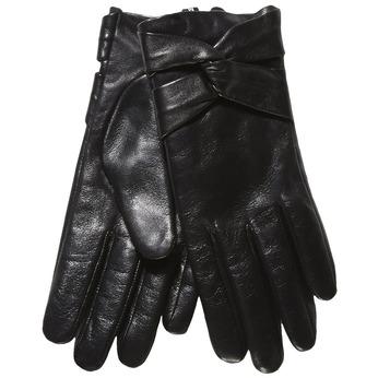 Dámske kožené rukavice bata, čierna, 904-6109 - 13