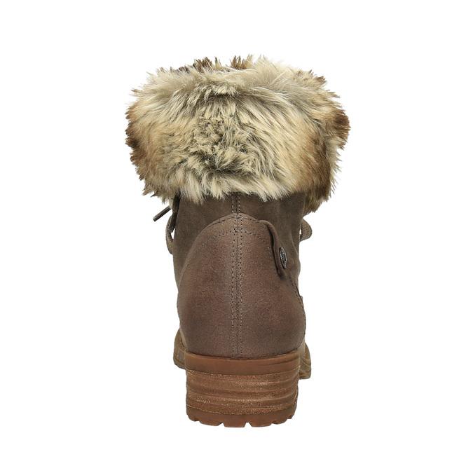 Dámska zimná obuv s kožúškom bata, hnedá, 591-3605 - 17