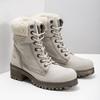 Kožená zimná obuv s kožúškom bata, béžová, 696-3336 - 26