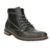 Pánska kožená obuv členková bata, šedá, 894-2621 - 13