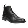 Kožená členková obuv vagabond, čierna, 894-6001 - 13