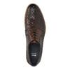 Celokožené poltopánky s pleteným vzorom bata, hnedá, 826-3775 - 19
