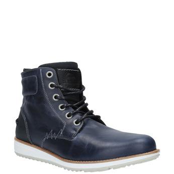 Kožená členková obuv na ležérnej podrážke bata, modrá, 894-2660 - 13