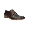 Celokožené poltopánky s pleteným vzorom bata, hnedá, 826-3775 - 13