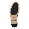 Celokožené poltopánky s pleteným vzorom bata, hnedá, 826-4775 - 26