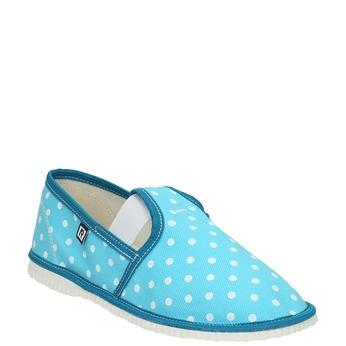 Detská domáca obuv bata, modrá, 379-9212 - 13