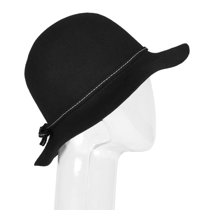 Dámsky klobúk s prešitím bata, čierna, 909-6294 - 13