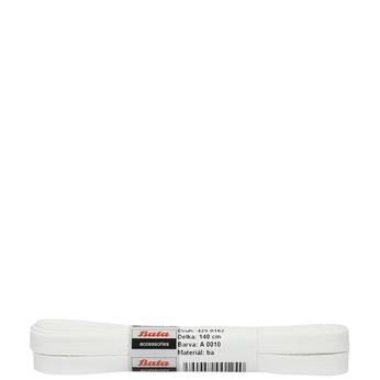 Biele šnúrky bata, biela, 901-1140 - 13
