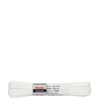 Biele šnúrky bata, biela, 901-1120 - 13