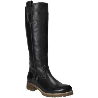 Kožené čižmy s masivnou podrážkou bata, čierna, 594-6613 - 13