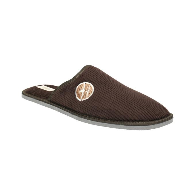 Pánska domáca obuv s plnou špicou bata, hnedá, 879-4609 - 13