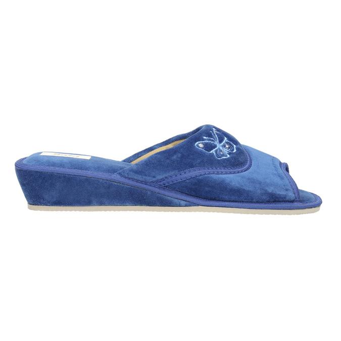 Dámska domáca obuv bata, modrá, 679-9606 - 15