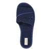 Dámska domáca obuv s mašličkou bata, modrá, 579-9609 - 19