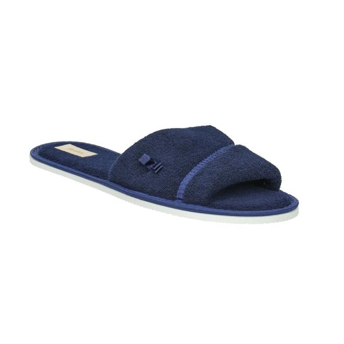 Dámska domáca obuv s mašličkou bata, modrá, 579-9609 - 13