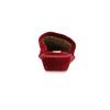 Dámska domáca obuv na klínovom podpätku bata, červená, 679-5607 - 17