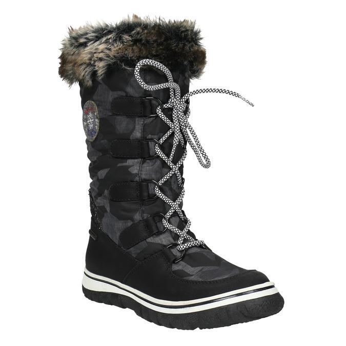 Dámske snehule s kožúškom bata, čierna, 599-6609 - 13