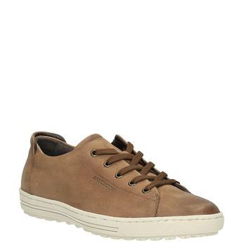 Dámske kožené tenisky bata, hnedá, 524-8349 - 13