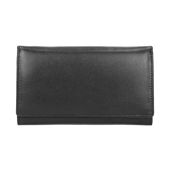 Dámska kožená peňaženka bata, čierna, 944-6357 - 26