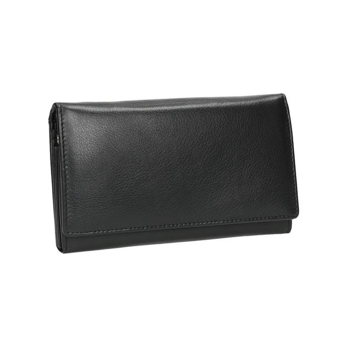 Dámska kožená peňaženka bata, čierna, 944-6357 - 13