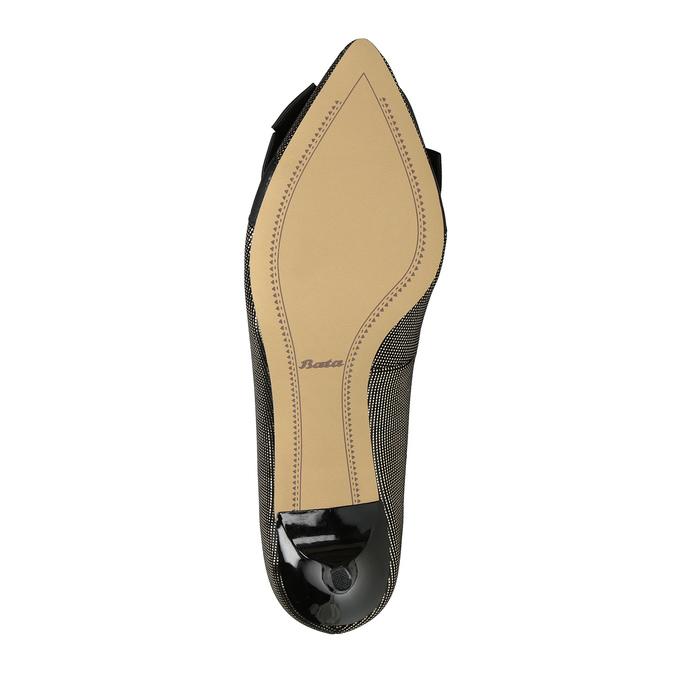 Lodičky s mašľou bata, čierna, zlatá, 629-8630 - 26