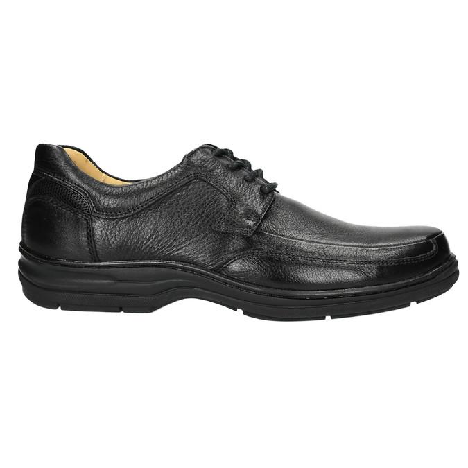 Ležérne kožené poltopánky comfit, čierna, 824-6719 - 15
