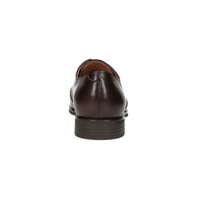 Hnedé kožené poltopánky bata, hnedá, 824-4754 - 17