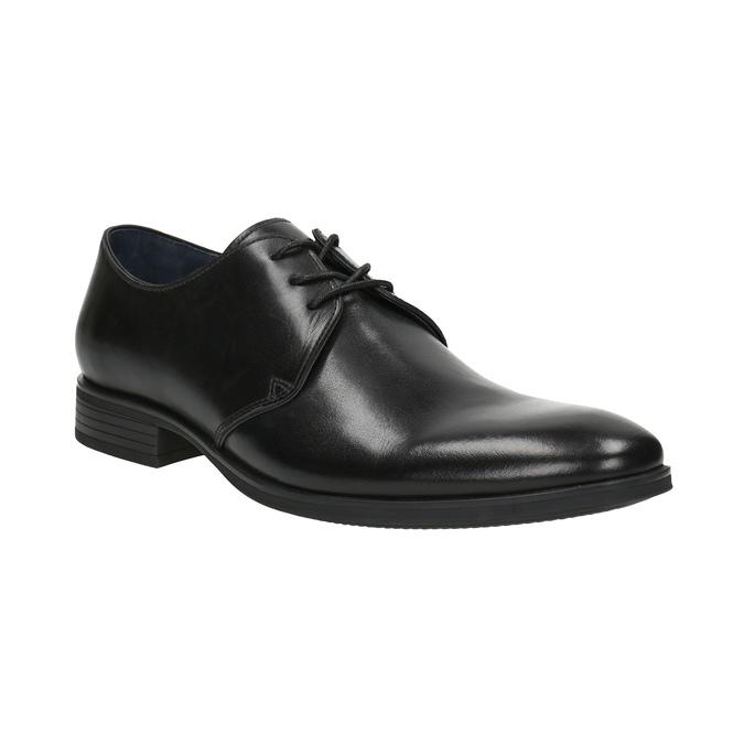 Čierne kožené poltopánky bata, čierna, 824-6754 - 13