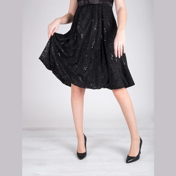 Čierne kožené lodičky bata, čierna, 726-6645 - 14