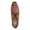 Kožené poltopánky so vzorom bata, hnedá, 826-3813 - 19