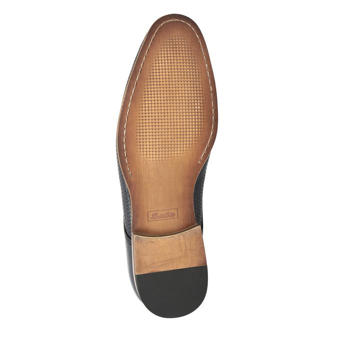 Kožené poltopánky so vzorom bata, hnedá, 826-3813 - 26