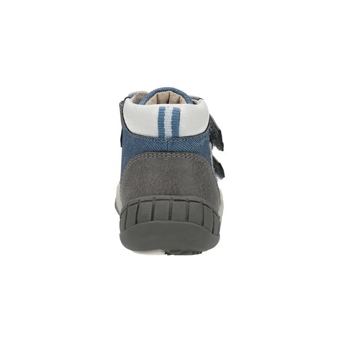 Detská členková obuv s denimovými detailami bubblegummers, modrá, 111-9614 - 17