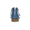 Kožené členkové čižmy s perforáciou bata, modrá, 596-9647 - 17