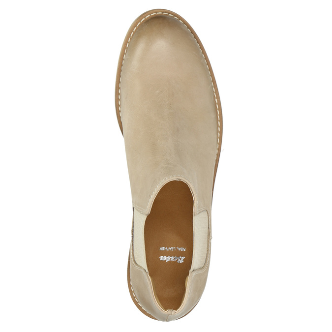 Kožené Chelsea Boots bata, béžová, 594-8432 - 19