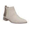 Kožené členkové čižmy s pružnými bokmi bata, šedá, 596-2652 - 13