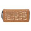 Hnedá peňaženka s perforáciou bata, hnedá, 941-3154 - 26
