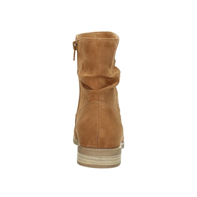 Hnedé členkové čižmy bata, hnedá, 599-4614 - 17