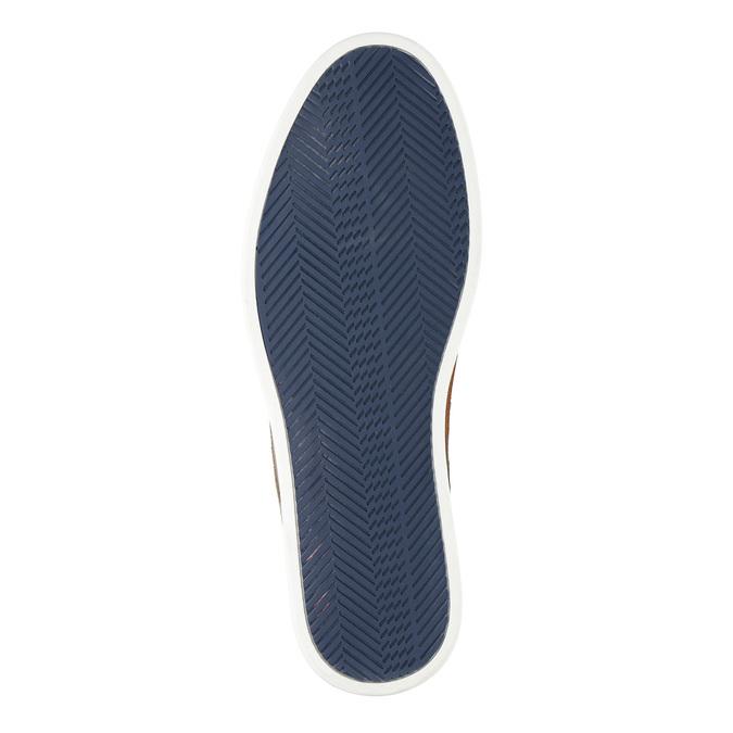 Ležérne kožené poltopánky bata, modrá, 843-9623 - 26