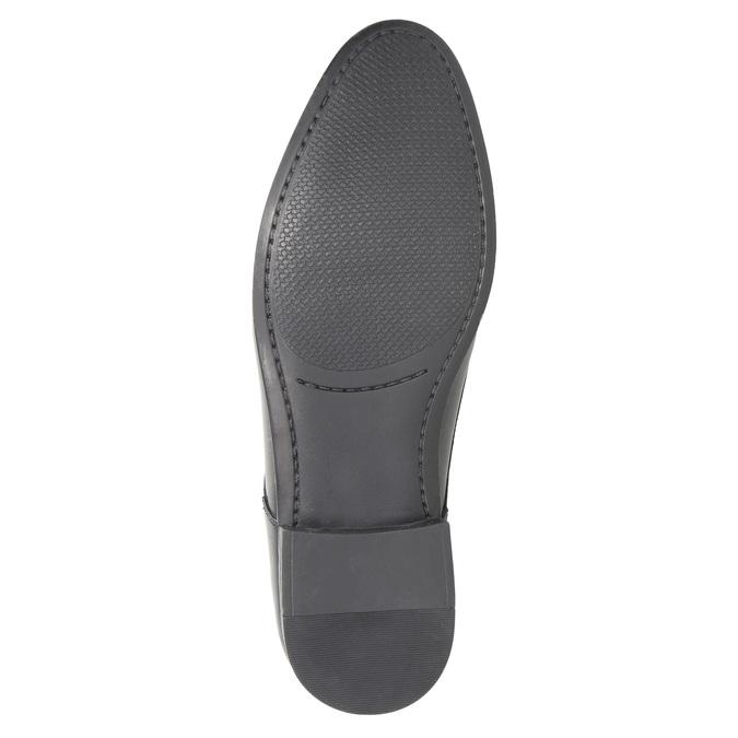 Pánske čierne kožené poltopánky bata, čierna, 824-6813 - 26